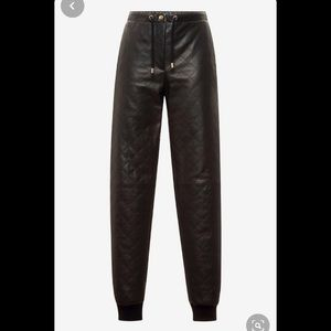 Moschino quilted faux leather jogger pants